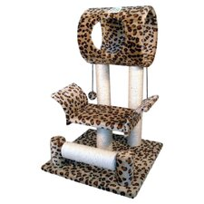 "28"" Faux Fur Cat Tree"