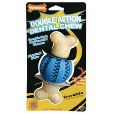 Double Action Dental Chew Ball Dog Toy
