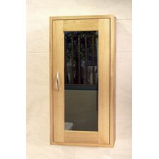 Aquarius One Door Single Bathroom Wall Unit in Oak