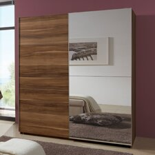 Queen 135 cm Wardrobe with 1 Mirrored Door