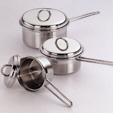 Saucepans with Lids 6 Piece Set