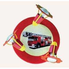 Wand-/ Deckenleuchte 3-flammig Feuerwehr