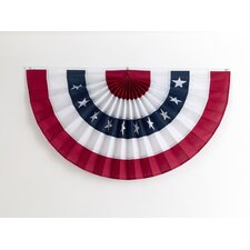 Pleated Fan with Stars Flag
