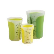 <strong>Chef'N</strong> SleekStor Pinch & Pour Measuring Beakers in Green Tonal (Set of 3)