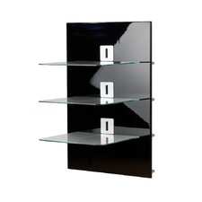 Xeno-3 Wall Furniture with 3 Glass Shelves and Media Storage