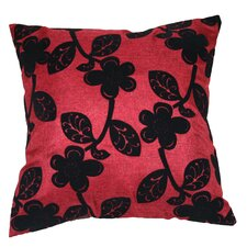 Tivoli Floral Flock Decorative Throw Pillow