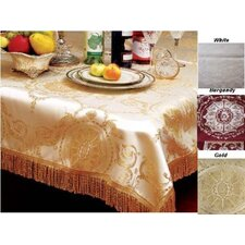 <strong>Violet Linen</strong> Prestige Damask Design Tablecloth