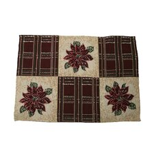 Seasonal Poinsettia Plaid Designs Place Mat