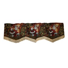 Seasonal Santa Claus Design Window Valance