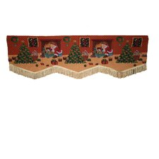 Seasonal Santa Claus Design Curtain Valance
