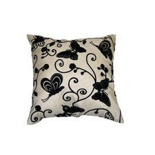 <strong>Violet Linen</strong> Tivoli Butterfly Flock Decorative Throw Pillow