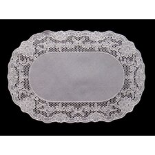 <strong>Violet Linen</strong> Vinyl Lace Oval Place Mat (Set of 4)