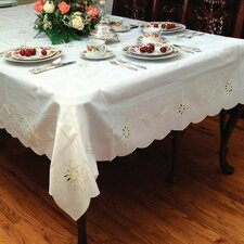 Bally Embroidered Daisy Design Tablecloth