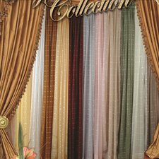 Royal Plaid  Sheer Curtain Single Panel