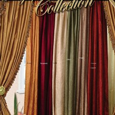 Silky Crushed Curtain Single Panel