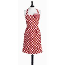 Giant Gingham Red Bib Courtney Apron