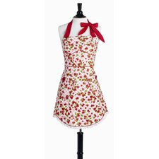 Strawberry Gingham Bib Sabrina Apron