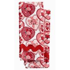 Be My Valentine Waffle Towel Set