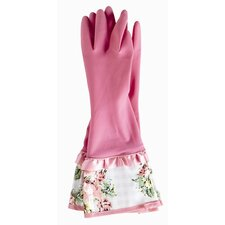 Gingham Floral Rubber Gloves