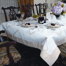 <strong>Violet Linen</strong> Dainty Embroidered Design Tablecloth