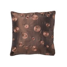 Silky Circle Design Throw Pillow