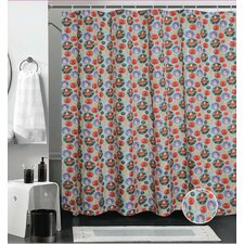 European Christmas Santa Clau's Design Printed Shower Curtain