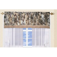 <strong>Violet Linen</strong> Silky Bloom Design Curtain Valance