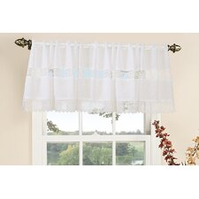 <strong>Violet Linen</strong> Treasure Lace Rod Pocket Ruffled Curtain Valance