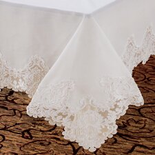 <strong>Violet Linen</strong> Imperial Embroidered Vintage Lace Design Tablecloth