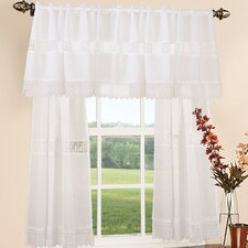 "Treasure Lace 60"" Curtain Valance and Tier Set"