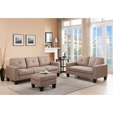 Bradford Sofa, Loveseat and Ottoman Set