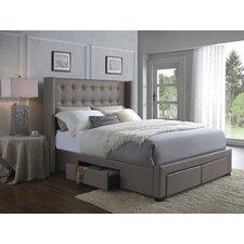 Savoy Storage Wingback Bed