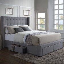 Savoy Storage Wingback Bed I