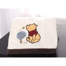 Friendship Pooh Embroidered Boa Blanket