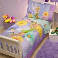 Tinkerbell Garden Treasures 4 Piece Toddler Bedding Set