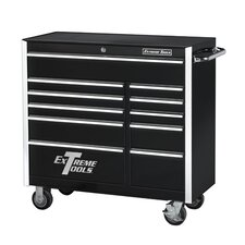 "41"" 11 Drawer Professional Roller Cabinet in Black"