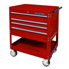 "Deluxe 32.25"" Wide 4 Drawer Service Cart"