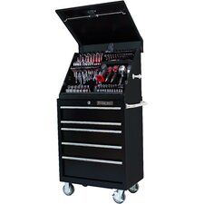 "30.5"" Wide 5 Drawer Portable Workstation and Roller Cabinet Combination Set"