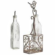 Volare Oil and Vinegar Caddy Set
