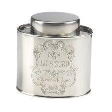 Le Bistro Oval Stainless Steel Canister (Set of 3)