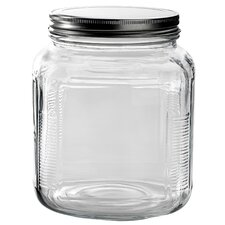 2 Qt Clear Glass Cracker Jar