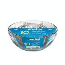 <strong>Anchor Hocking</strong> 10 Piece Mixing Bowl Set