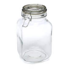 <strong>Anchor Hocking</strong> Glass Heremes Clamp Jar