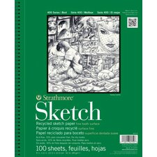 "400 Series 3.5"" x 5"" Wire Bound Recycled Sketch Pads (Set of 12)"