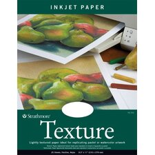 Texture Inkjet Fluorescent White Papers (Set of 25)