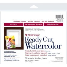 <strong>Strathmore</strong> 500 Series Hot Press Ready Cut Watercolor Sheet Pack