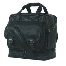 "<strong>Mercury Luggage</strong> Highland II Series 16"" Leather Carry-On Duffel"