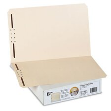 Archival File Folders, Antimicrobial, Straight Top Tab, Letter, Manila, 50/Box