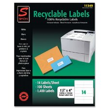 Recyclable Address Labels (1,400 Pack)