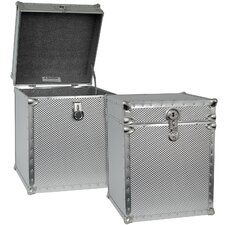 Embossed Steel Tall Cube Storage Trunk